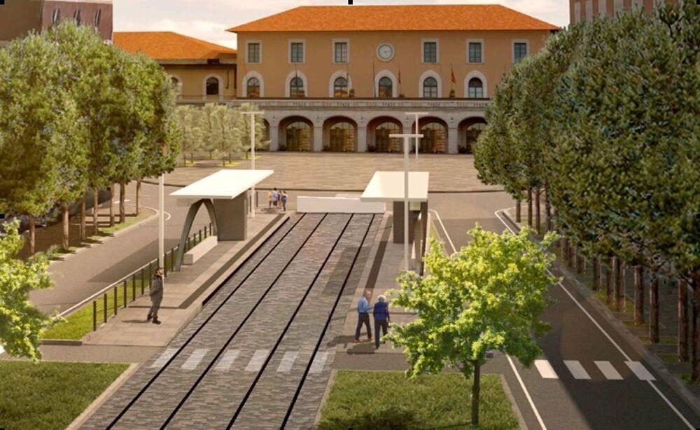 Progetto per la partenza del Tram dalla Stazione